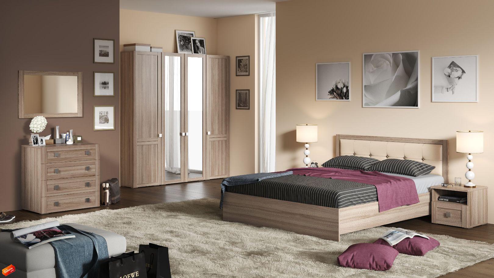 Модульная спальня Корсика Композиция-2 модульная спальня корсика композиция 1
