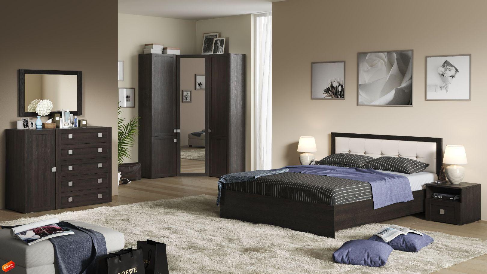 Модульная спальня Корсика Композиция-3 капитан детская и взрослая модульная мебель мдф