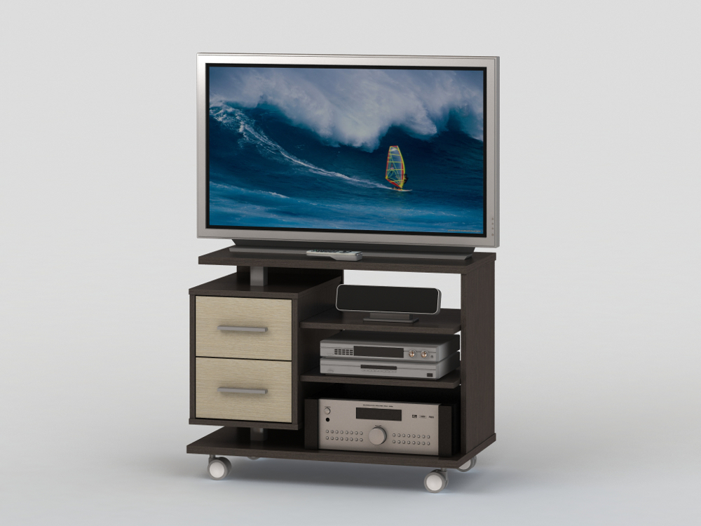 Тумба ВТ 10-50Тумбы под телевизор<br>размер: 800х450 В630<br><br>Материалы: ЛДСП, кромка ПВХ<br>Полный размер (ДхГхВ): 800х450х630<br>Габарит монитора: 80 см (диагональ от 26 до 32)<br>Вес товара (кг): 33<br>Цвет: Венге/Дуб Молочный<br>Изготовление и доставка: 2-3 дня<br>Условия доставки: Бесплатная по Москве до подъезда<br>Условие оплаты: Оплата наличными при получении товара<br>Доставка по МО (за пределами МКАД): 30 руб./км<br>Подъем на грузовом лифте: 200 руб.<br>Гарантия: 12 месяцев<br>Производство: Россия, г. Москва<br>Производитель: ВасКо (Дик)