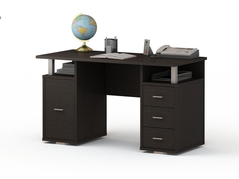Письменный стол ПС 40-07 письменный стол двухтумбовый пс 40 07 венге шатура столы и стулья