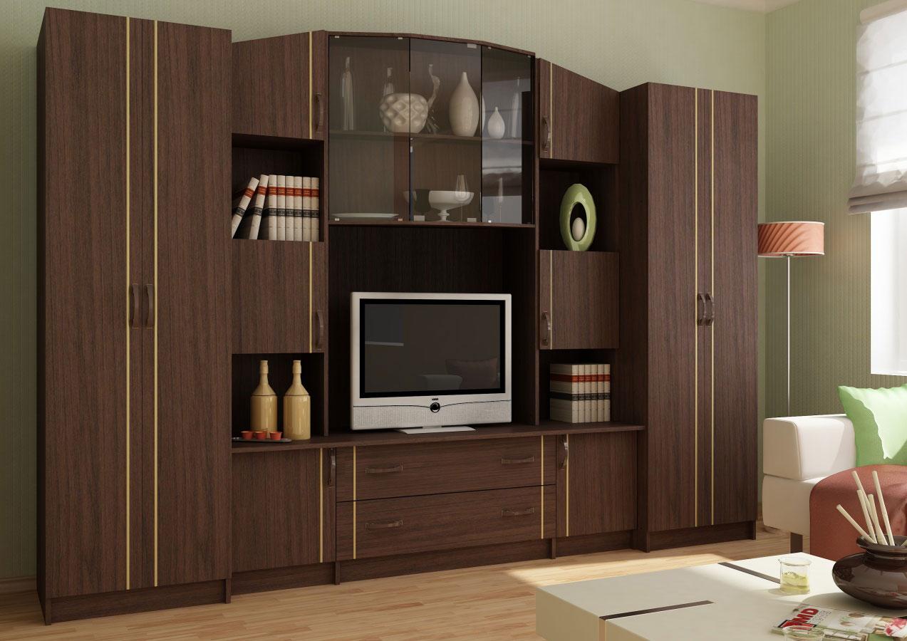 Сурская мебель Модульная стенка Макарена 18 ЛДСП модульная мебель композиция 7 б