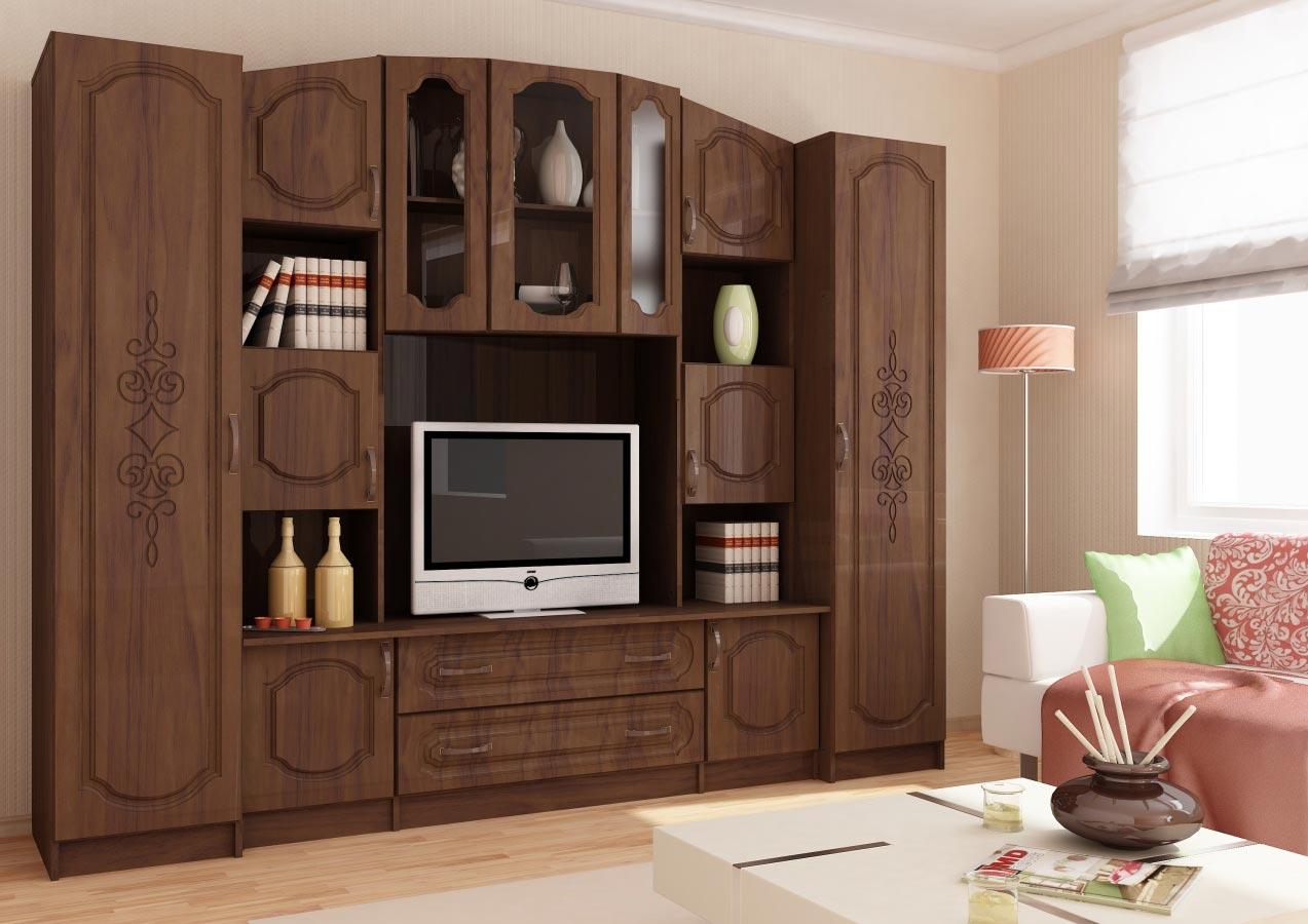 Сурская мебель Модульная стенка Макарена 24 МДФ модульная мебель композиция 7 б