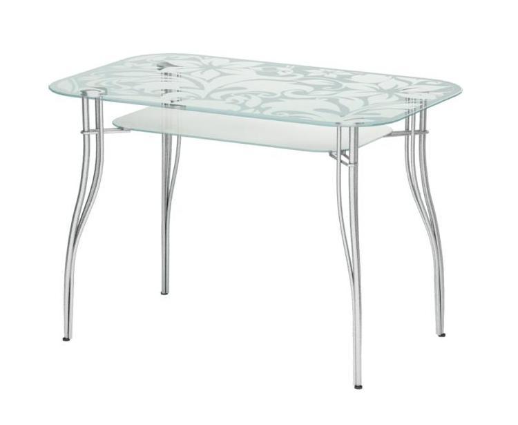 Стеклянный кухонный стол Мебелайн-6 тумба мебелайн 5