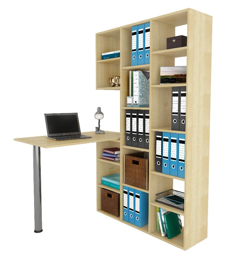 Стол-стеллаж Рикс 1+Рикс 6Компьютерные столы<br>Размер: 1038х300х1716<br><br>Материалы: ЛДСП, кромка ПВХ<br>Полный размер (ДхГхВ): 1100/1798х600/300х750/1716<br>Вес товара (кг): 52,8<br>Комплектация: Стеллаж: 1038х1716х300; Стол: 1100х750х600<br>Примечание: Цвет стола может отличаться от основного цвета изделия<br>Изготовление и доставка: 5-7 дней<br>Количество упаковок: 5 шт.<br>Условия доставки: Бесплатная по Москве до подъезда<br>Условие оплаты: Оплата наличными при получении товара<br>Доставка по МО (за пределами МКАД): 35 руб./км<br>Подъем на грузовом лифте: 400 руб.<br>Подъем без лифта: 400 руб./этаж (включая первый)<br>Сборка: 800 руб. Осуществляется в течение 1-2 дней после доставки<br>Гарантия: 24 месяца<br>Производство: Россия<br>Производитель: МФ Мастер