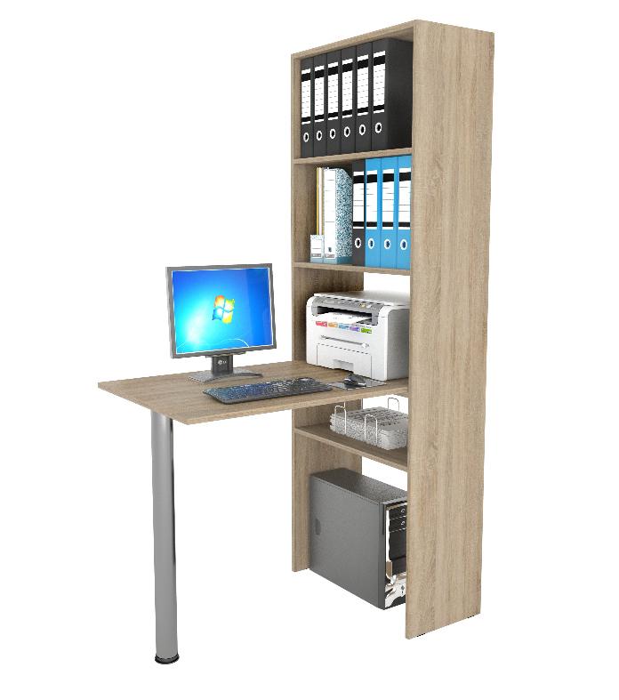 Стол-стеллаж Рикс 4+Рикс 6Компьютерные столы<br>Размер:<br><br>Материалы: ЛДСП, кромка ПВХ<br>Полный размер (ДхВхГ): 1100х1770х632<br>Вес товара (кг): 32,2<br>Комплектация: Стеллаж: 632х1770х300; Стол: 1100х750х600<br>Примечание: Цвет стола может отличаться от основного цвета изделия<br>Изготовление и доставка: 5-7 дней<br>Условия доставки: Бесплатная по Москве до подъезда<br>Условие оплаты: Оплата наличными при получении товара<br>Доставка по МО (за пределами МКАД): 35 руб./км<br>Подъем на грузовом лифте: 400 руб.<br>Подъем без лифта: 400 руб./этаж (включая первый)<br>Сборка: 800 руб. Осуществляется в течение 1-2 дней после доставки<br>Гарантия: 24 месяца<br>Производство: Россия<br>Производитель: МФ Мастер