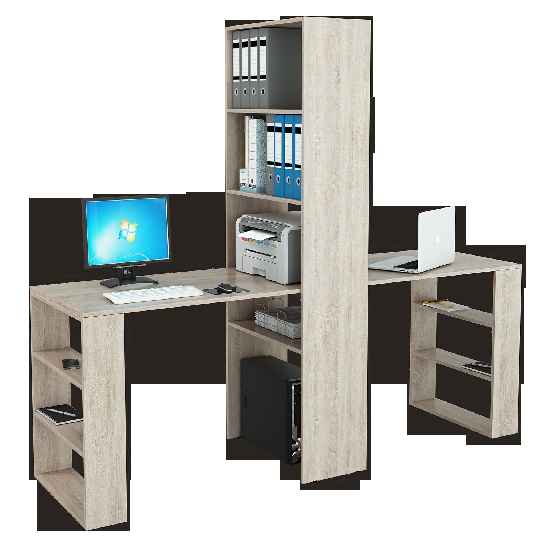 Стеллаж Рикс 4+Стол Рикс 5+5 компьютерный стол со стеллажом мф мастер 2 шт рикс 4 2 шт рикс 6