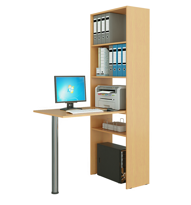 Стол-стеллаж Рикс 4+Рикс 6 компьютерный стол со стеллажом мф мастер 2 шт рикс 4 2 шт рикс 6
