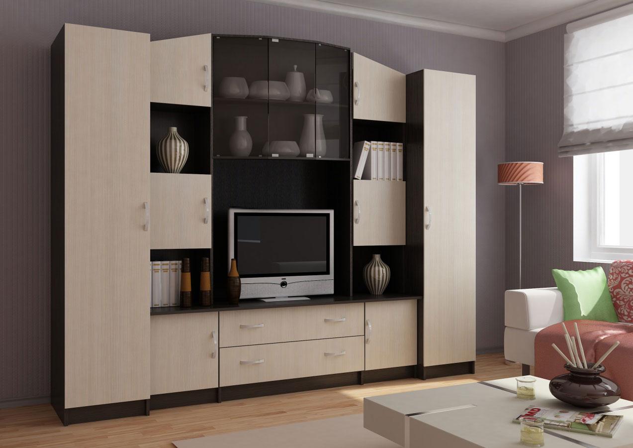 Сурская мебель Модульная стенка Макарена 17 ЛДСП модульная мебель композиция 7 б