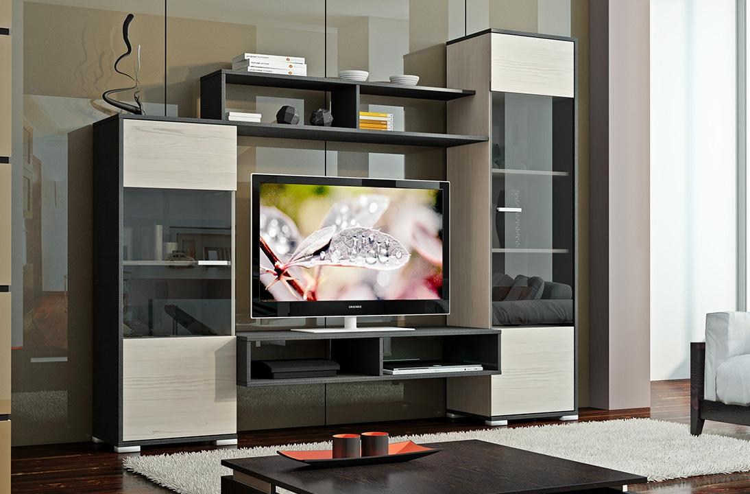 Мини-стенка для гостиной Джаз стенка для гостиной мебелеф стенка для гостиной мебелеф 3