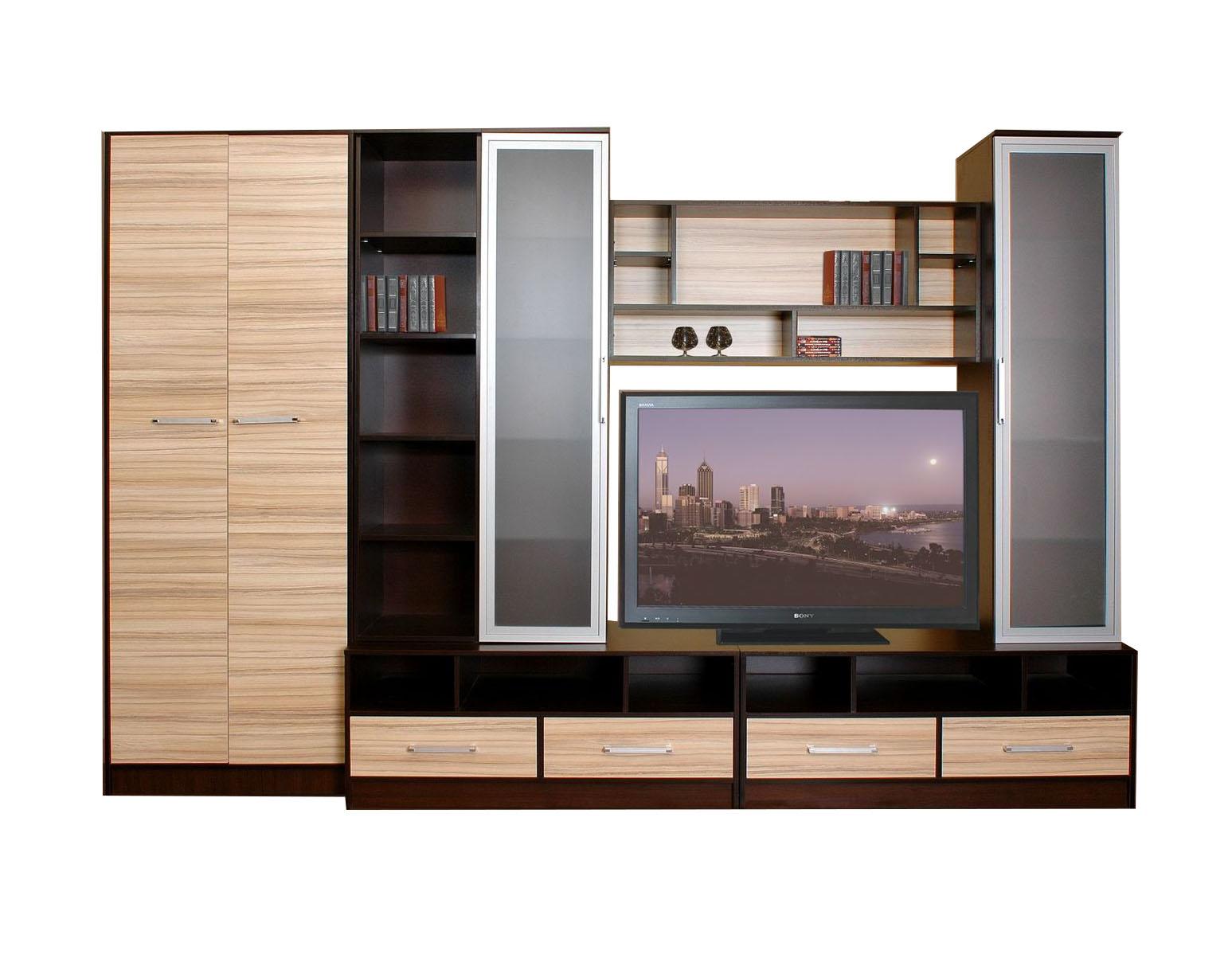 Стенка Валенсия-2 стенка витрина луиза 1600