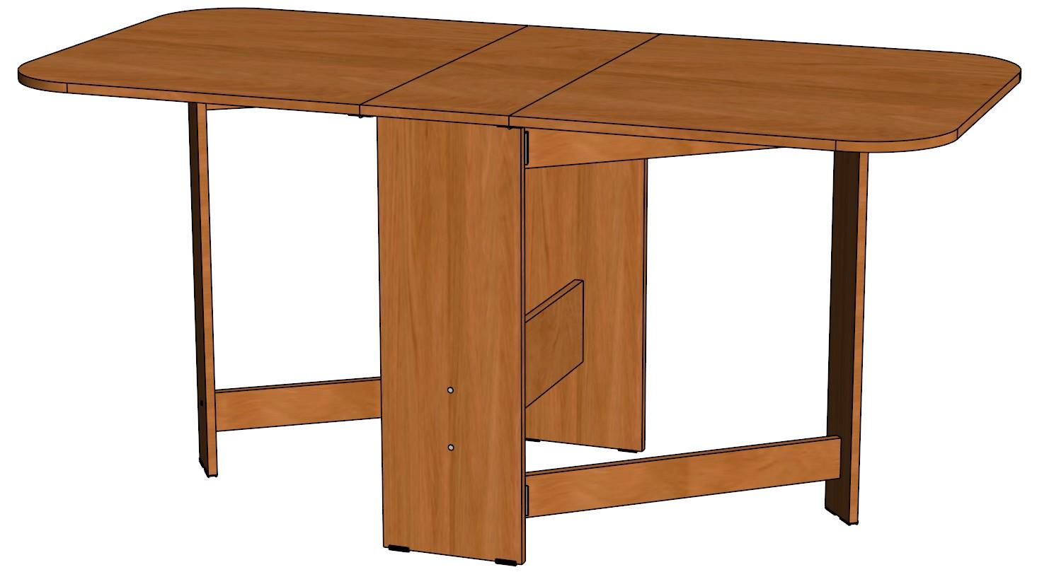 Стол-книжкаОбеденные столы<br>Размер  1568х750х750<br><br>Материалы: ЛДСП, кромка ПВХ<br>Полный размер (ДхВхГ): 1568х750х750<br>Цвет: Венге, Дуб молочный, Ольха, Ясень Шимо тёмный, Ясень Шимо светлый<br>Примечание: Доставляется в разобранном виде<br>Изготовление и доставка: 5-16 дней<br>Условия доставки: Бесплатная по Москве до подъезда<br>Условие оплаты: Оплата наличными при получении товара<br>Доставка по МО (за пределами МКАД): 35 руб./км. Доставка за МКАД, за пределы трассы А-107 (ММК)<br>Доставка в пределах ТТК: +1000 руб. Доставка в центр Москвы осуществляется ночью, с 22.00 до 7.00 утра<br>Подъем на грузовом лифте: 4% от стоимости изделия<br>Подъем без лифта: 2% от стоимости изделия за 1 этаж<br>Сборка: 10% от стоимости изделия. Выезд сборщика за МКАД 30 руб./км<br>Гарантия: 18 месяцев<br>Производство: Россия<br>Производитель: Linaura