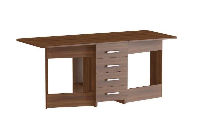 Стол-книжка С-5Обеденные столы<br>Размер: 42/182х78х75<br><br>Материалы: ЛДСП, кромка ПВХ<br>Полный размер (ДхГхВ): 42/182х78х75<br>Вес товара (кг): 44, объем 0,074 куба<br>Комплектация: 4 ящика<br>Цвет: Орех, венге, дуб молочный, дуб сонома<br>Изготовление и доставка: 2-3 дня<br>Условия доставки: Бесплатная по Москве до подъезда<br>Условие оплаты: Оплата наличными при получении товара<br>Доставка по МО (за пределами МКАД): 30 руб./км<br>Подъем на лифте: 500 руб.<br>Сборка: 1000 руб.<br>Гарантия: 12 месяцев<br>Производство: Россия<br>Производитель: Наша мебель (Дик)