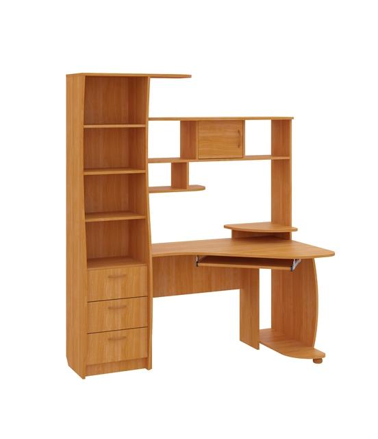 Компьютерный стол Комфорт-9Компьютерные столы<br>Размер: 155х86 В186<br><br>Материалы: ЛДСП, кромка ПВХ<br>Полный размер (ДхГхВ): 155х86х186<br>Вес товара (кг): 90<br>Цвет: Бук, Венге, Вишня, Орех<br>Примечание: Доставляется в разобранном виде<br>Изготовление и доставка: 2-3 дня<br>Условия доставки: Бесплатная по Москве до подъезда<br>Условие оплаты: Оплата наличными при получении товара<br>Доставка по МО (за пределами МКАД): 30 руб./км<br>Подъем на лифте: 500 руб.<br>Сборка: 1000 руб.<br>Гарантия: 12 месяцев<br>Производство: Россия<br>Производитель: НиК (Д)