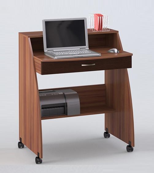 Компьютерный стол СК-1 BasicКомпьютерные столы<br>Размер: 80х60 В98<br><br>Материалы: ЛДСП, кромка ПВХ<br>Полный размер: 80х60 В98<br>Вес товара (кг): 28<br>Цвет: Слива валлис/Венге, Венге/Ясень<br>Дополнительные опции: Столик оснащен 4 колесиками<br>Изготовление и доставка: 2-3 дня<br>Условия доставки: Бесплатная по Москве до подъезда<br>Условие оплаты: Оплата наличными при получении товара<br>Подъем на лифте: 300 руб.<br>Гарантия: 12 месяцев<br>Производство: Россия, г. Шатура<br>Производитель: Наша мебель (Дик)