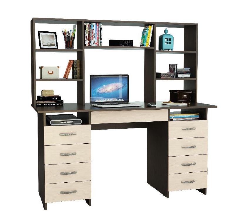 Письменный стол Милан-10Я с надставкой письменный стол васко соло 021