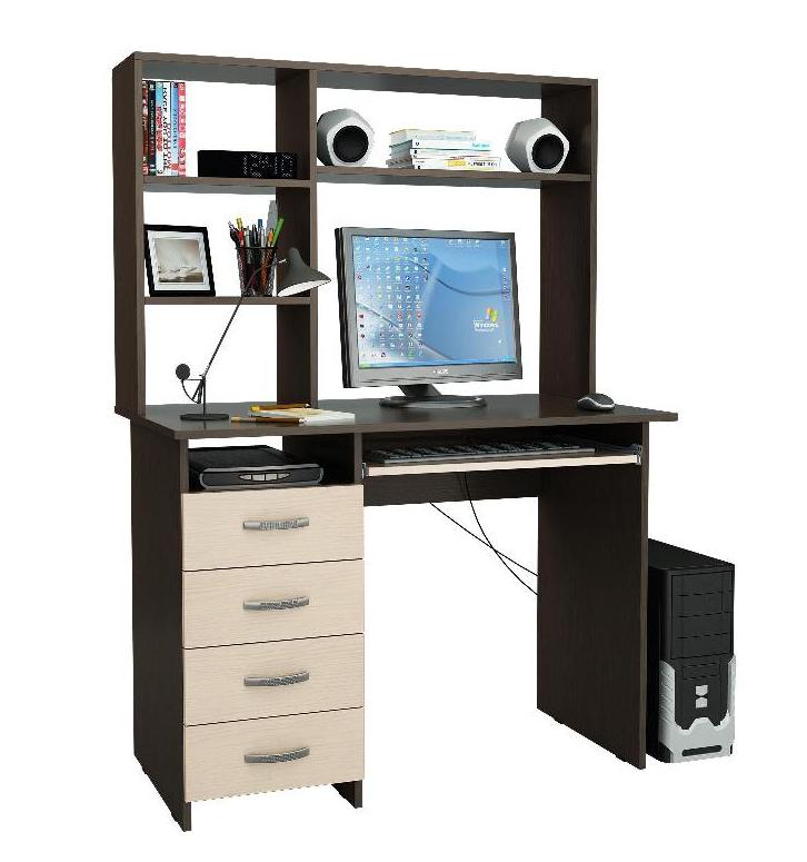 Компьютерный стол Милан-3 с надставкой МФ Мастер