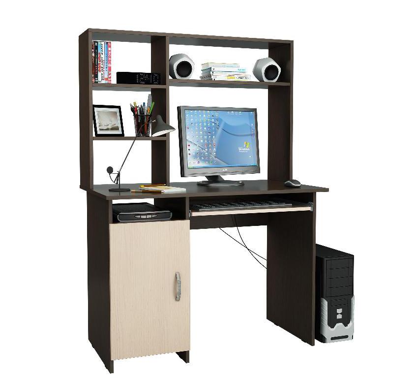 Компьютерный стол Милан-8 с надставкой