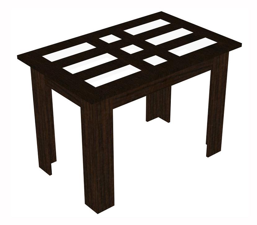 Стол обеденный КамеяОбеденные столы<br>Размер: 1100х700х756<br><br>Материалы: ЛДСП, кромка ПВХ, столешница МДФ, вставки матовое стекло<br>Полный размер (ДхГхВ): 1100х700х756<br>Цвет: Венге<br>Примечание: Доставляется в разобранном виде<br>Изготовление и доставка: 10-14 дней<br>Условия доставки: Бесплатная по Москве до подъезда<br>Условие оплаты: Оплата наличными при получении товара<br>Доставка по МО (за пределами МКАД): 30 руб./км<br>Доставка в пределах ТТК: Доставка в центр Москвы осуществляется ночью, с 22.00 до 6.00 утра<br>Подъем на лифте: 300 руб.<br>Подъем без лифта: 150 руб./этаж, включая первый<br>Сборка: 800 руб.<br>Гарантия: 12 месяцев<br>Производство: Россия, г.Дзержинск<br>Производитель: МК Премиум