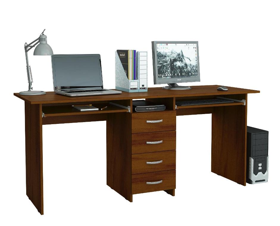 Компьютерный стол 2-х местный Тандем 2 ПКомпьютерные столы<br>Размер: 1748х750х600<br><br>Материалы: ЛДСП, кромка ПВХ<br>Полный размер (ДхГхВ): 1748х750х600<br>Вес товара (кг): 51,1<br>Примечание: Дополнительно к столу можно заказать надставку<br>Изготовление и доставка: 5-7 дней<br>Количество упаковок: 3 шт.<br>Условия доставки: Бесплатная по Москве до подъезда<br>Условие оплаты: Оплата наличными при получении товара<br>Доставка по МО (за пределами МКАД): 35 руб./км<br>Подъем на грузовом лифте: 250 руб.<br>Подъем без лифта: 250 руб./этаж включая первый<br>Сборка: 800 руб. Осуществляется в течение 1-2 дней после доставки<br>Гарантия: 24 месяца<br>Производство: Россия<br>Производитель: МФ Мастер