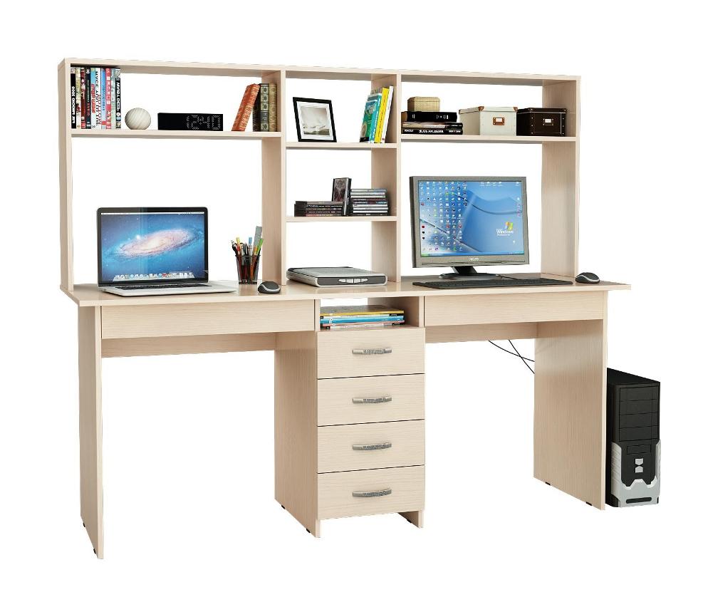 Письменный стол 2-х местный Тандем 2Я с надставкой МФ Мастер