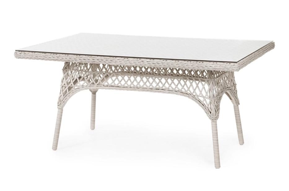 Плетеный прямоугольный стол Beatrice-1 white brafab callas