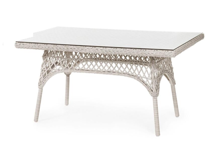 Плетеный прямоугольный стол Beatrice-2 white brafab callas