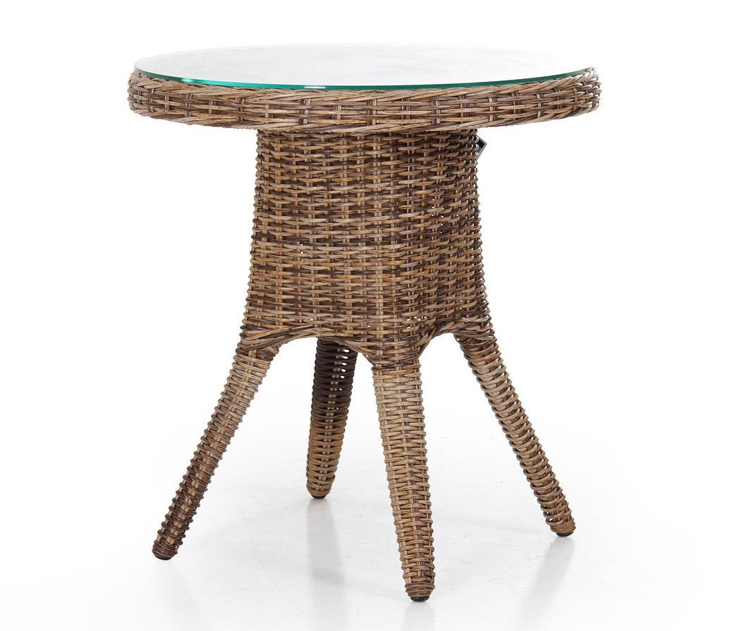Плетеный круглый стол San Diego-2 mixПлетеная мебель из искусственного ротанга<br>Размер: 70х73<br><br>Артикул: 10560-62<br>Материалы: Искусственный ротанг, высокопрочное стекло<br>Каркас: Алюминиевый<br>Полный размер: &amp;#216;70х73<br>Цвет: Коричневый микс<br>Изготовление и доставка: 2-3 дня<br>Условия доставки: Бесплатная по Москве до подъезда<br>Условие оплаты: Оплата наличными при получении товара<br>Гарантия: 12 месяцев<br>Производство: Швеция<br>Производитель: Brafab