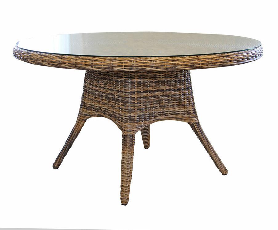 Плетеный круглый стол San Diego-1 mixПлетеная мебель из искусственного ротанга<br>Размер: 130х73<br><br>Артикул: 10559-62<br>Материалы: Искусственный ротанг, высокопрочное стекло<br>Каркас: Алюминиевый<br>Полный размер: &amp;#216;130х73<br>Цвет: Коричневый микс<br>Изготовление и доставка: 2-3 дня<br>Условия доставки: Бесплатная по Москве до подъезда<br>Условие оплаты: Оплата наличными при получении товара<br>Гарантия: 12 месяцев<br>Производство: Швеция<br>Производитель: Brafab