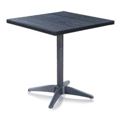 Стол квадратный T-159ВПлетеная мебель из искусственного ротанга<br>размер: 70х70 В74<br><br>Артикул: T-159В<br>Материалы: Искусственный ротанг<br>Каркас: Сталь, древесно-полимерный композит<br>Полный размер: 70х70 В74<br>Цвет: black<br>Изготовление и доставка: 2-3 дня<br>Условия доставки: Бесплатная по Москве до подъезда<br>Условие оплаты: Оплата наличными при получении товара<br>Производитель: Афина Мебель