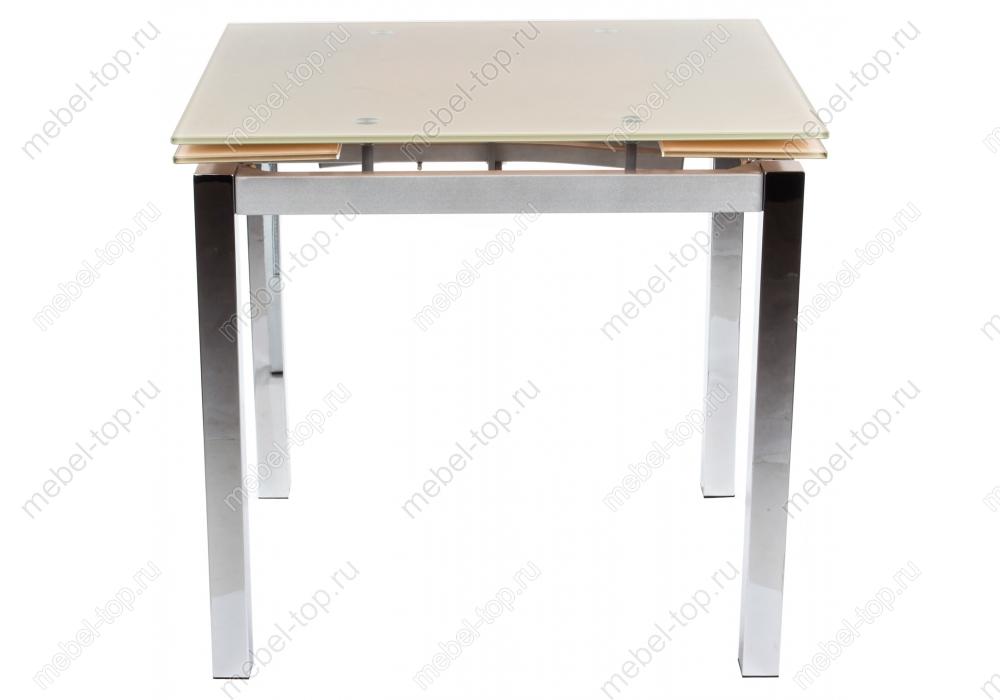 Стол раскладной TB017-26Обеденные столы<br>Размер: 80/120х65х75<br><br>Артикул: 1403<br>Материалы: Металл, закаленное стекло<br>Полный размер (ДхГхВ): 80/120х65х75<br>Вес товара (кг): 35<br>Цвет: Бежевый/хром, оранжевый/хром<br>Изготовление и доставка: 1-3 дня<br>Условия доставки: Бесплатная по Москве до подъезда<br>Условие оплаты: Оплата наличными при получении товара<br>Доставка по МО (за пределами МКАД): 30 руб./км<br>Подъем на лифте: 300 руб.<br>Производство: Китай<br>Производитель: Woodville