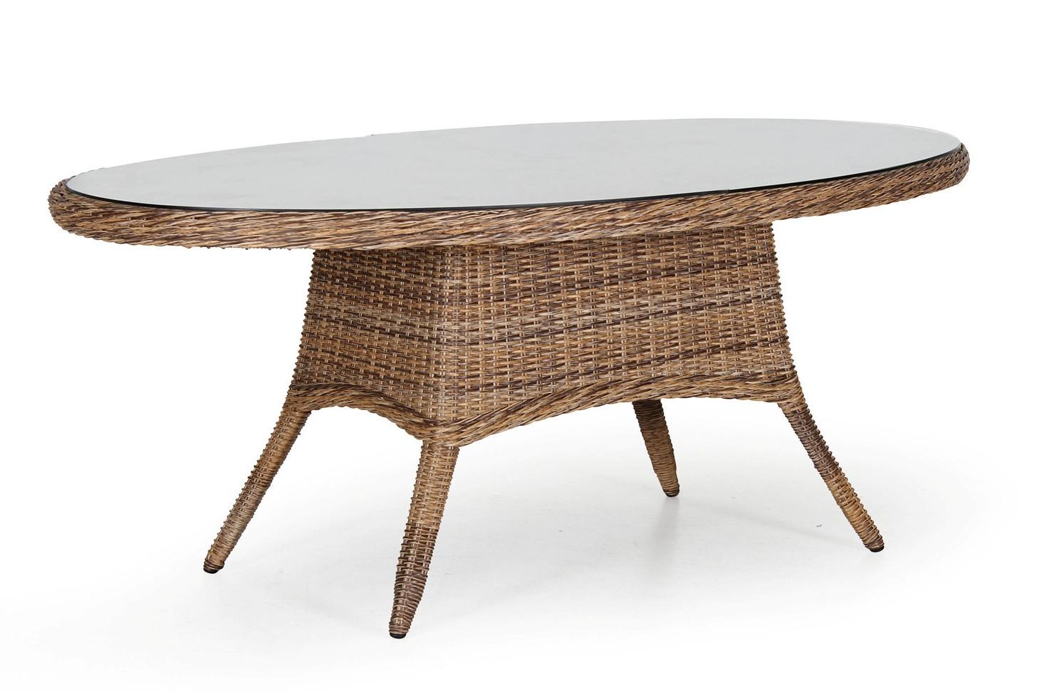 Плетеный овальный стол San Diego mix