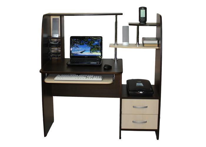 Компьютерный стол СК-6 Школьник-СтильСтолы и кресла<br>Размер: 118х60 В125<br><br>Материалы: ЛДСП, кромка ПВХ<br>Полный размер: 118х60 В125<br>Вес товара (кг): 42<br>Цвет: Венге/Дуб молочный<br>Изготовление и доставка: 2-3 дня<br>Условия доставки: Бесплатная по Москве до подъезда<br>Условие оплаты: Оплата наличными при получении товара<br>Подъем на грузовом лифте: 300 руб.<br>Гарантия: 12 месяцев<br>Производство: Россия, г. Шатура<br>Производитель: Наша мебель (Дик)