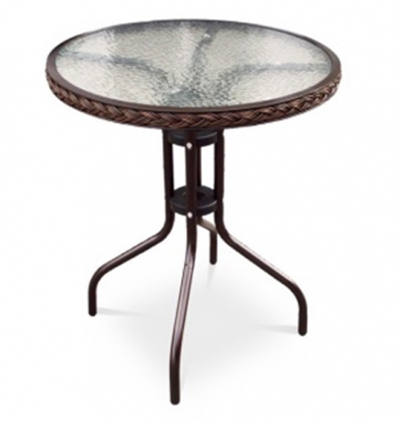 Кофейный столик для дачи TLH-087A/В-60Плетеная мебель из искусственного ротанга<br>размер: 60 В70<br><br>Артикул: TLH-087A/В-60<br>Материалы: Стекло: закаленное 5 мм, по периметру столешницы искусственный ротанг<br>Каркас: Труба: сталь D25 с полимерным покрытием<br>Полный размер: 60 В70<br>Цвет: Капучино, Орех<br>Изготовление и доставка: 2-3 дня<br>Условия доставки: Бесплатная по Москве до подъезда<br>Условие оплаты: Оплата наличными при получении товара<br>Производитель: Афина Мебель