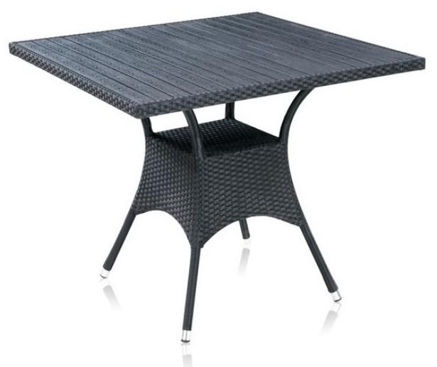 Стол T-97ВПлетеная мебель из искусственного ротанга<br><br><br>Артикул: T-97В<br>Материалы: Искусственный ротанг<br>Каркас: Сталь<br>Полный размер: 87x87 В75<br>Цвет: Black<br>Примечание: Столешница: древесно-полимерный композит<br>Изготовление и доставка: 2-3 дня<br>Условия доставки: Бесплатная по Москве до подъезда<br>Условие оплаты: Оплата наличными при получении товара<br>Производство: Китай<br>Производитель: Афина Мебель