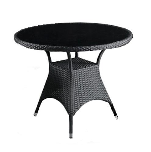 Стол T190A-1Плетеная мебель из искусственного ротанга<br><br><br>Артикул: T190A-1<br>Материалы: Искусственный ротанг, стекло закаленное 6 мм (тонированное, черное)<br>Каркас: Сталь<br>Полный размер: 96 В74<br>Цвет: Black-black<br>Изготовление и доставка: 2-3 дня<br>Условия доставки: Бесплатная по Москве до подъезда<br>Условие оплаты: Оплата наличными при получении товара<br>Производство: Китай<br>Производитель: Афина Мебель