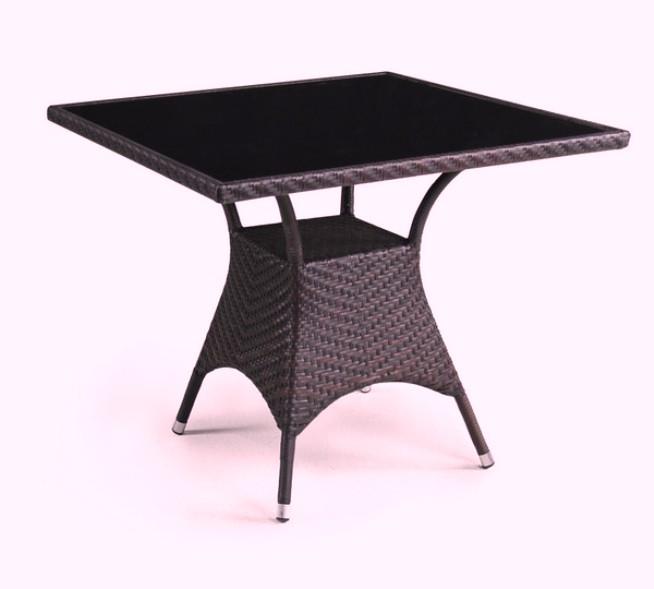 Стол T190B-2Плетеная мебель из искусственного ротанга<br><br><br>Артикул: T190B-2<br>Материалы: Искусственный ротанг, стекло закаленное 6 мм (тонированное, черное)<br>Каркас: Сталь<br>Полный размер: 90x90 В74<br>Цвет: Brown<br>Изготовление и доставка: 2-3 дня<br>Условия доставки: Бесплатная по Москве до подъезда<br>Условие оплаты: Оплата наличными при получении товара<br>Производство: Китай<br>Производитель: Афина Мебель