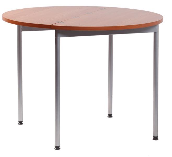 Стол ТР110/Z111 раскладнойОбеденные столы<br>Размер: &amp;#216;100(50х100) В75<br><br>Материалы: ЛДСП, кромка ПВХ<br>Каркас: Металлический<br>Полный размер: &amp;#216;100(50х100) В75<br>Вес товара (кг): 20<br>Цвет: Вишня<br>Примечание: Доставляется в разобранном виде<br>Изготовление и доставка: 2-3 дня<br>Условия доставки: Бесплатная по Москве до подъезда<br>Условие оплаты: Оплата наличными при получении товара<br>Подъем на лифте: 300 руб.<br>Гарантия: 12 месяцев<br>Производство: Россия, г. Красноярск<br>Производитель: Командор