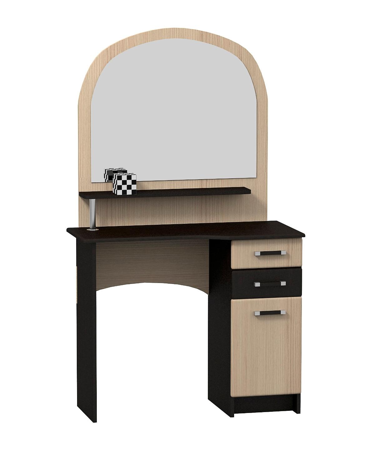 Стол туалетный СТ-01Туалетные столики<br>Размер: 900х1560х400<br><br>Материалы: ЛДСП, кромка ПВХ<br>Полный размер (ДхВхГ): 900х1560х400<br>Вес товара (кг): 40<br>Цвет: Комби: Венге+Ясень шимо светлый<br>Примечание: Доставляется в разобранном виде<br>Изготовление и доставка: 10-14 дней<br>Количество упаковок: 2 шт<br>Условия доставки: Бесплатная по Москве до подъезда<br>Условие оплаты: Оплата наличными при получении товара<br>Доставка по МО (за пределами МКАД): 30 руб./км<br>Доставка в пределах ТТК: Доставка в центр Москвы осуществляется ночью, с 22.00 до 6.00 утра<br>Подъем на лифте: 300 руб.<br>Подъем без лифта: 150 руб./этаж, включая первый<br>Сборка: 1000 руб.<br>Гарантия: 12 месяцев<br>Производство: Россия, г.Дзержинск<br>Производитель: МК Премиум