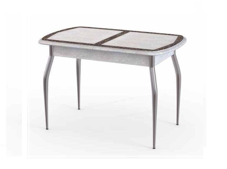Стол раскладной Альба М 38Обеденные столы<br>Размер: 113/143х71х75<br><br>Материалы: ЛДСП, основание - хром<br>Полный размер (ДхГхВ): 113/143х71х75<br>Вес товара (кг): 25, объем 0,17064 куба<br>Цвет: Гобелен платина/орнамент<br>Изготовление и доставка: 2-3 дня<br>Условия доставки: Бесплатная по Москве до подъезда<br>Условие оплаты: Оплата наличными при получении товара<br>Доставка по МО (за пределами МКАД): 30 руб./км<br>Подъем на грузовом лифте: 500 руб.<br>Гарантия: 12 месяцев<br>Производство: Россия<br>Производитель: ДревПром