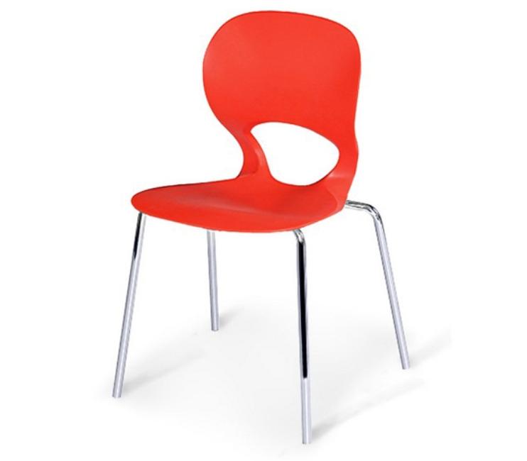 Стул Kony SHF-056-RПластиковая мебель<br><br><br>Артикул: SHF-056-R<br>Материалы: Сидение полипропилен<br>Каркас: Хромированная сталь<br>Полный размер: 49х46 В84<br>Вес товара (кг): 3,7<br>Цвет: Red, green, yellow<br>Изготовление и доставка: 2-3 дня<br>Условия доставки: Бесплатная по Москве до подъезда<br>Условие оплаты: Оплата наличными при получении товара<br>Производство: Китай<br>Производитель: Афина Мебель