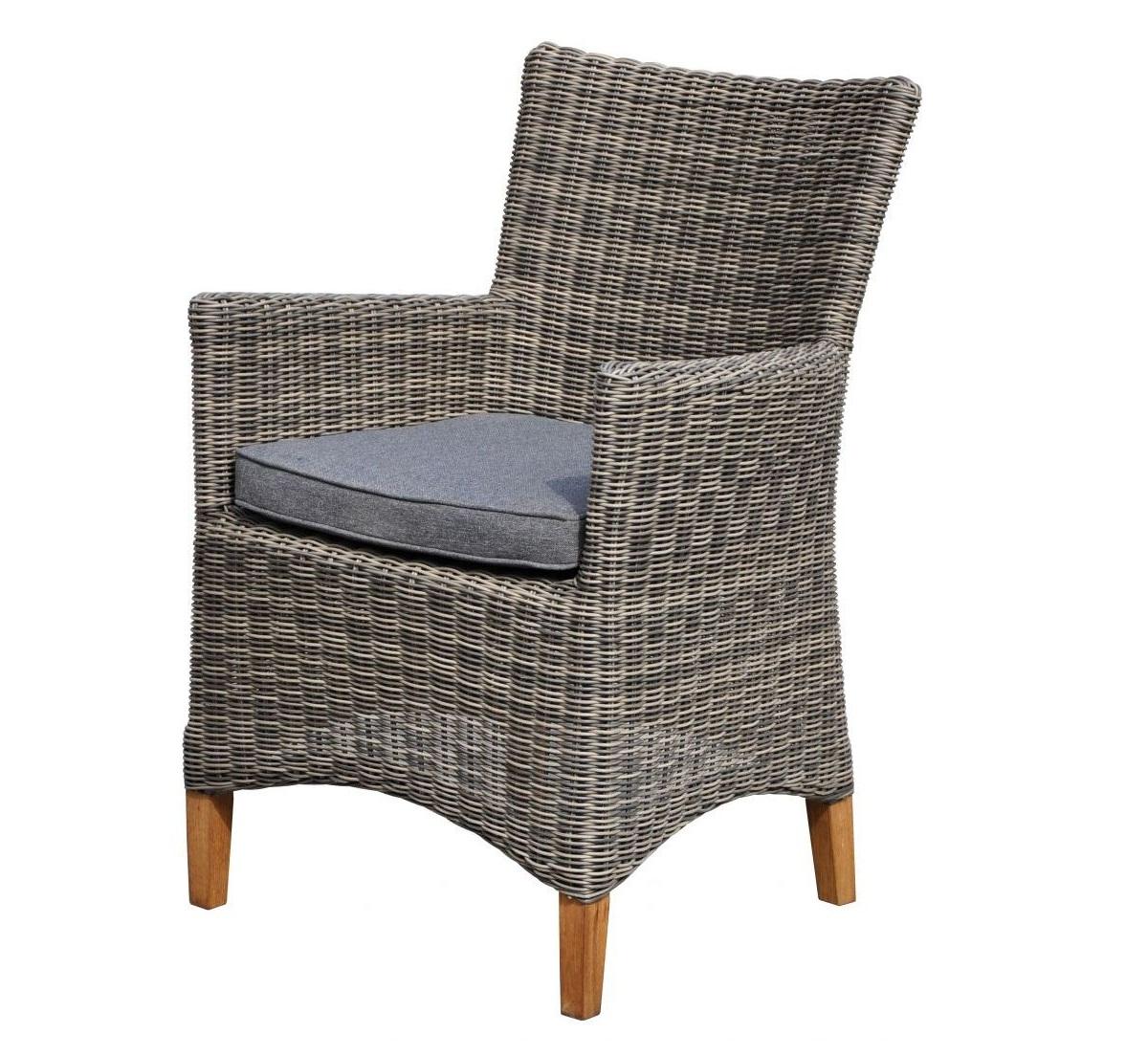 Плетеный стул с подлокотниками Лана