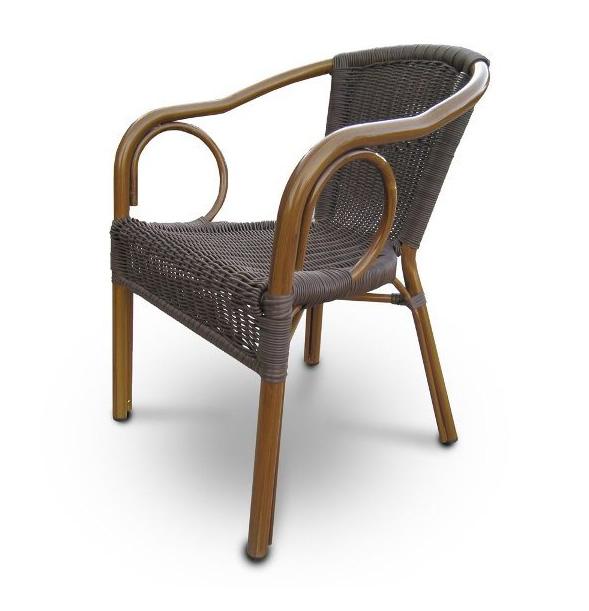 Стул ротанг A-2010BПлетеная мебель из искусственного ротанга<br>Размер: 56х62 В80<br><br>Артикул: A-2010B<br>Материалы: Искусственный ротанг 3,5 мм<br>Каркас: Алюминий D32х1,5мм с полимерным покрытием<br>Полный размер: 56х62 В80<br>Цвет: Coffe<br>Изготовление и доставка: 2-3 дня<br>Условия доставки: Бесплатная по Москве до подъезда<br>Условие оплаты: Оплата наличными при получении товара<br>Производство: Китай<br>Производитель: Афина Мебель