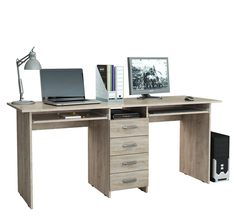 Компьютерный стол 2-х местный Тандем 2П