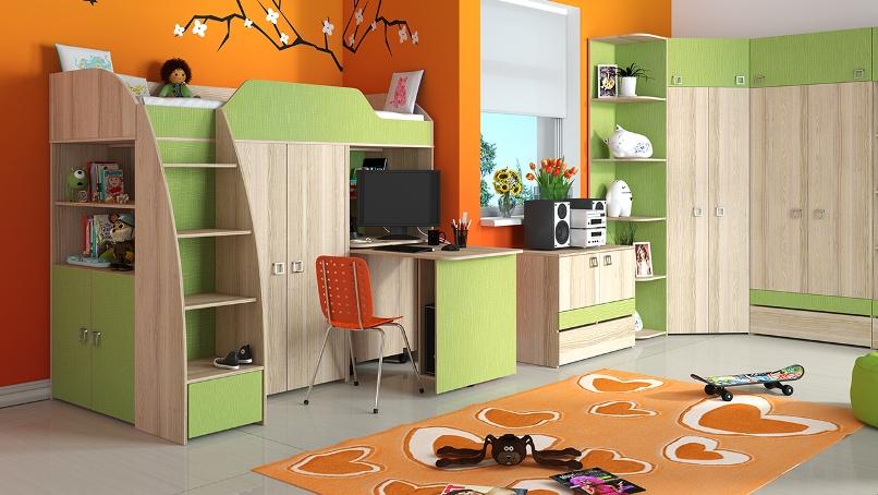 Модульная детская комната Радуга Киви ГН-84.00.001