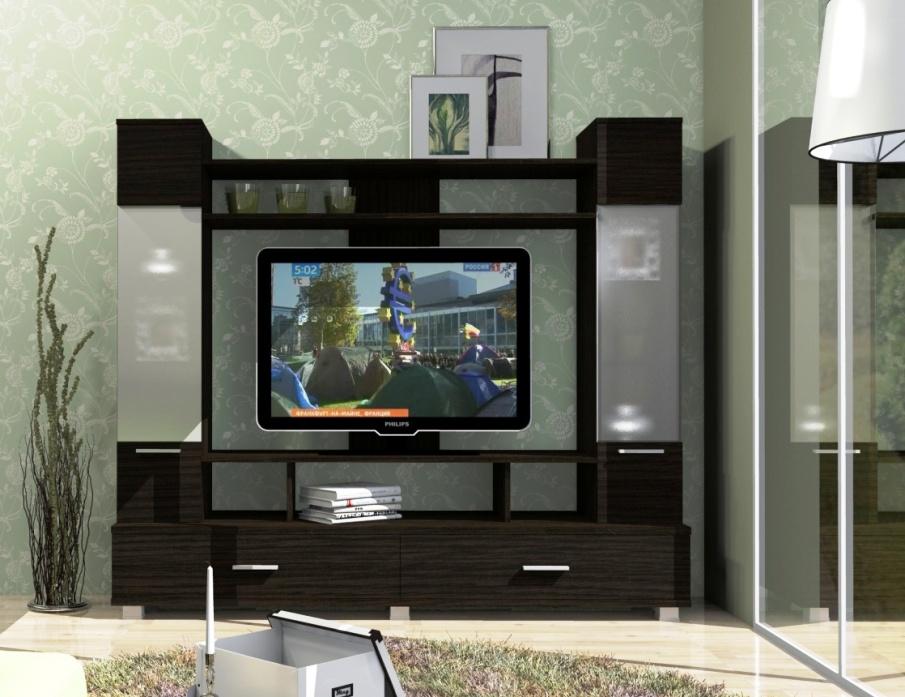 Тумба под ТВ Вероника 1-1Тумбы под телевизор<br>Размер: 1732x412 В1520<br><br>Материалы: ЛДСП, кромка ПВХ, стекло<br>Полный размер (ДхВхГ): 1732х1520x412<br>Ниша под ТВ: 1200х730<br>Цвет: Венге Магия; Дуб молочный 8622<br>Изготовление и доставка: 14-16 дней<br>Количество упаковок: 3 шт.<br>Условия доставки: Бесплатная по Москве до подъезда<br>Условие оплаты: Оплата наличными при получении товара<br>Доставка по МО (за пределами МКАД): 30 руб./км<br>Доставка в пределах ТТК: Доставка в центр Москвы осуществляется ночью, с 22.00 до 6.00 утра<br>Подъем на грузовом лифте: 700 руб.<br>Подъем без лифта: 350 руб./этаж<br>Сборка: 10% от стоимости изделия<br>Гарантия: 12 месяцев<br>Производство: Россия, г. Нижний Новгород<br>Производитель: Сильва