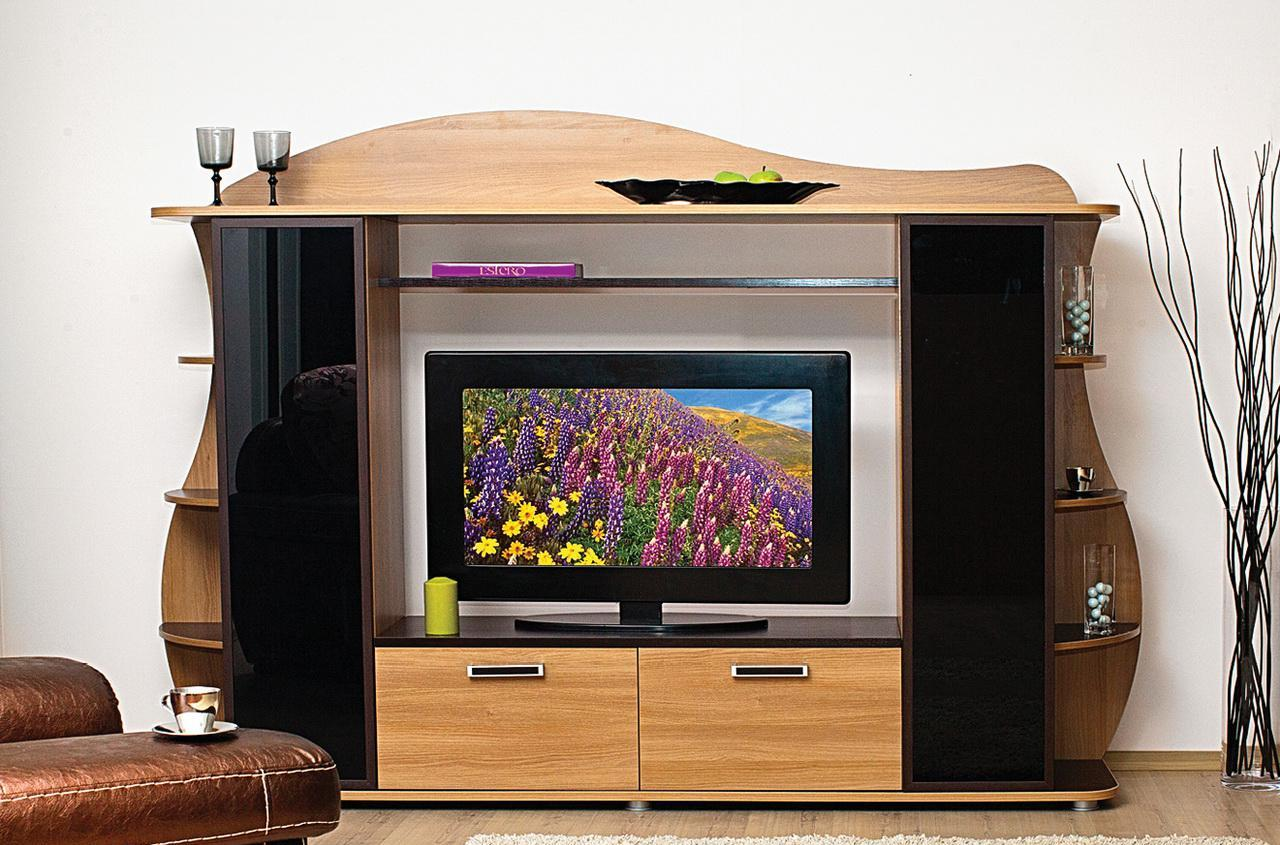Тумба под ТВ ДионаТумбы под телевизор<br>размер: 2214х1644х442<br><br>Материалы: ЛДСП, кромка ПВХ, стекло<br>Полный размер: 2214х1644х442<br>Ниша под ТВ: 1200х820<br>Вес товара (кг): 114<br>Цвет: Акация<br>Примечание: Доставляется в разобранном виде<br>Изготовление и доставка: 14-16 дней<br>Количество упаковок: 3 шт.<br>Условия доставки: Бесплатная по Москве до подъезда<br>Условие оплаты: Оплата наличными при получении товара<br>Подъем на грузовом лифте: 4% от стоимости изделия<br>Подъем без лифта: 2% от стоимости изделия за 1 этаж<br>Сборка: 10% от стоимости изделия. Выезд сборщика за МКАД +500 руб.<br>Гарантия: 12 месяцев<br>Производство: Россия, г. Нижний Новгород<br>Производитель: Сильва
