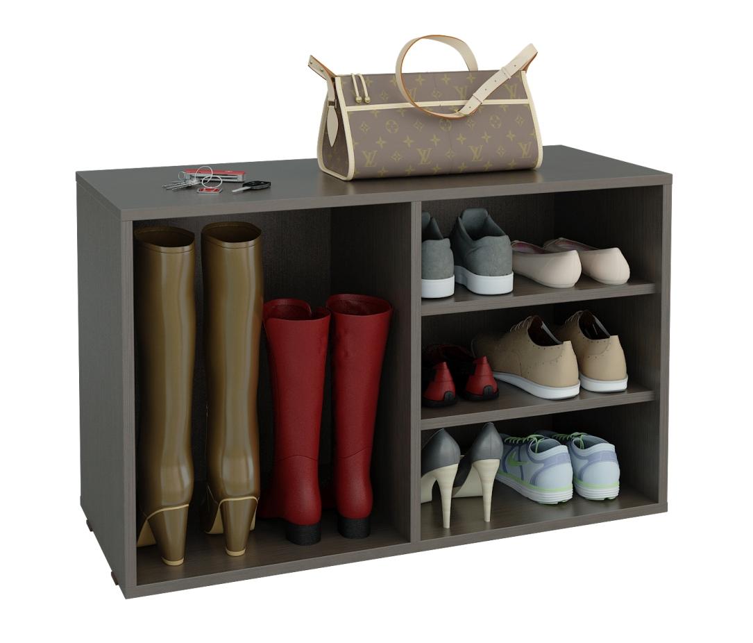 Тумба для обуви Лана ПОЛ-2 (1С+1П)Тумбы для обуви<br>размер: 848Х350 В532<br><br>Материалы: ЛДСП, кромка ПВХ<br>Полный размер (ДхГхВ): 848Х350х532<br>Вес товара (кг): 17,5<br>Дополнительные опции: Возможно установить дверцы и дополнительные полки<br>Примечание: Полки съемные, двери в стоимость не входят<br>Изготовление и доставка: 5-7 дней<br>Количество упаковок: 1 шт.<br>Условия доставки: Бесплатная по Москве до подъезда<br>Условие оплаты: Оплата наличными при получении товара<br>Доставка по МО (за пределами МКАД): 35 руб./км<br>Подъем на грузовом лифте: 150 руб.<br>Подъем без лифта: 150 руб./этаж (включая первый)<br>Сборка: 800 руб. Осуществляется в течение 1-2 дней после доставки<br>Гарантия: 24 месяца<br>Производство: Россия<br>Производитель: МФ Мастер