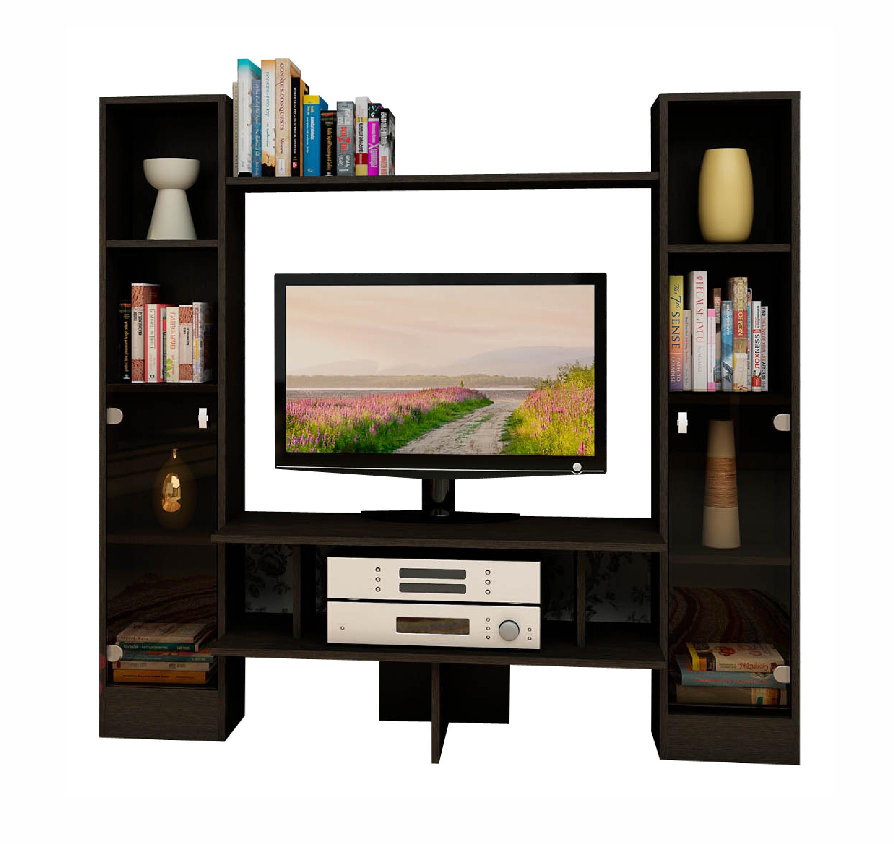 Тумба под ТВ-603Тумбы под телевизор<br>Размер: 1460х1370х350<br><br>Материалы: ЛДСП Kronospan - 16 мм., кромка ПВХ - 0,4 мм., стекло<br>Полный размер (ДхВхГ): 1460х1370х350<br>Ниша под ТВ: 860х754<br>Примечание: Доставляется в разобранном виде<br>Изготовление и доставка: 10-14 дней<br>Условия доставки: Бесплатная по Москве до подъезда<br>Условие оплаты: Оплата наличными при получении товара<br>Доставка по МО (за пределами МКАД): 30 руб./км<br>Доставка в пределах ТТК: Доставка в центр Москвы осуществляется ночью, с 22.00 до 6.00 утра<br>Подъем на грузовом лифте: 500 руб.<br>Подъем без лифта: 150 руб./этаж, включая первый<br>Сборка: 1000 руб.<br>Гарантия: 12 месяцев<br>Производство: Россия<br>Производитель: Grey