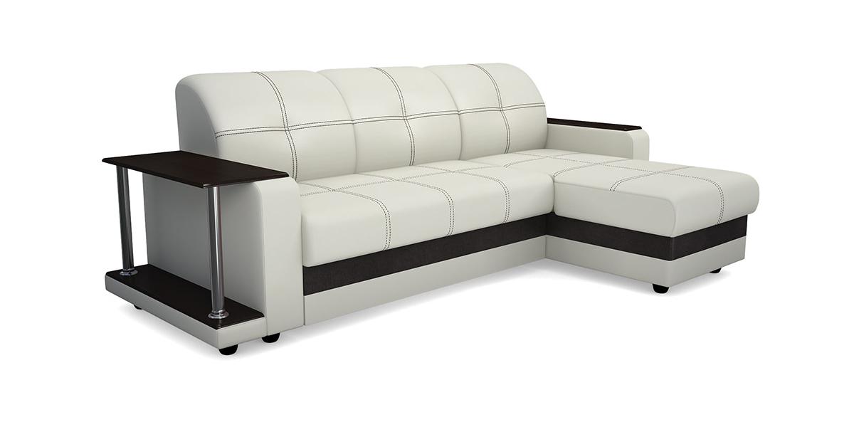 Угловой диван Виза 01 П трапеция с барным столиком