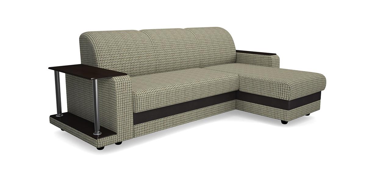 Угловой диван Виза 01 трапеция с барным столиком